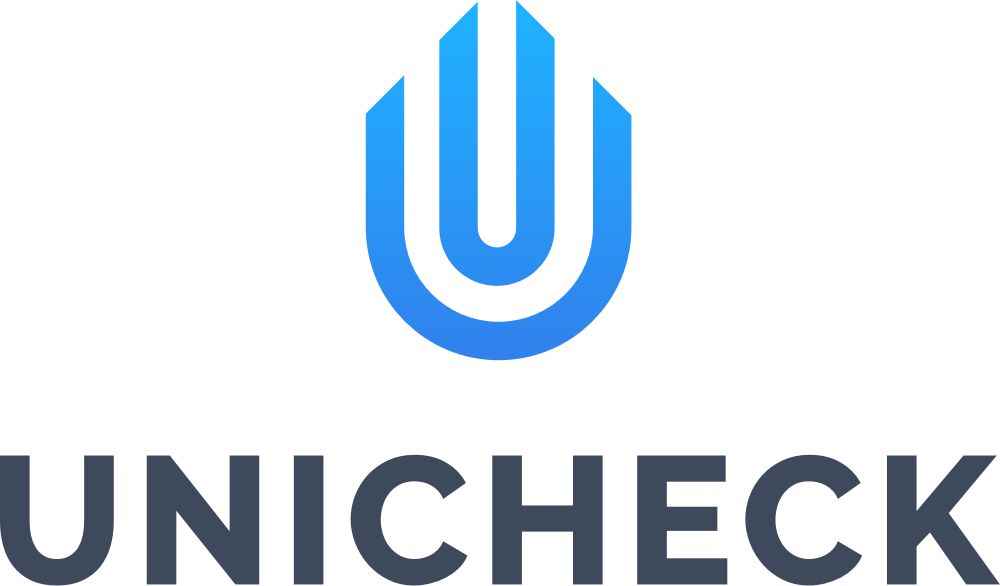 Unicheck logo vertical dark